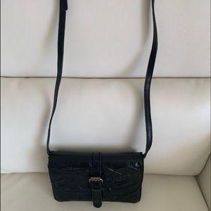 Patricia Nash Torri Leather Black Crossbody Bag